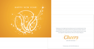 """Gold Card with """"Happy New Year!"""""""