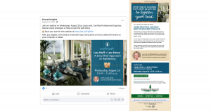 Integrated Campaign Example - Facebook post and email