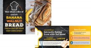 Banana Bread Baking Event Mailer