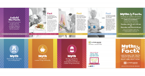 Colorful Myths vs Facts Mailer