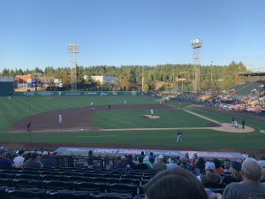 Tacoma Rainers baseball game from the stands