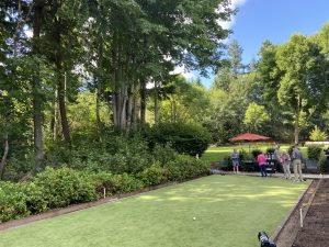 Residents playing lawn bowling